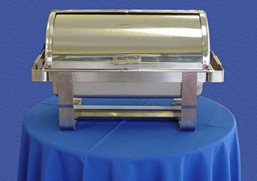 how to clean stainless steel chafing dishes