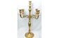 "18"" Tall 5-Branch Gold Candelabra"